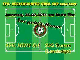 Cupspiel gegen den Landesligisten SVG Stumm ist eine interessante Aufgabe!