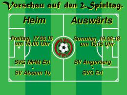 Vorschau auf den 2.Spieltag: Kampfmannschaft und 1b wollen ihren starken Start in die Saison am Wochenende vergolden.